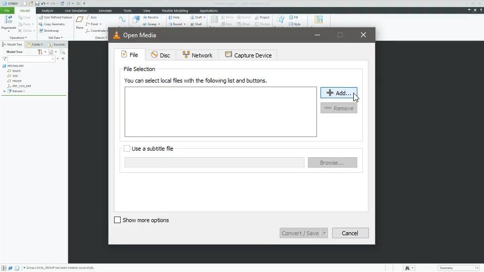 VLC PLAYER   File/Convert
