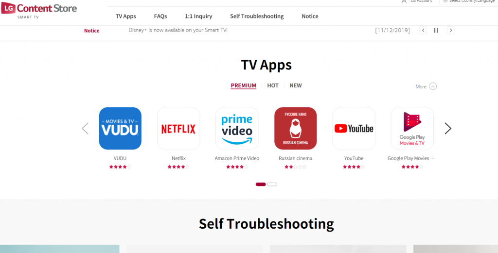WebOS Content Store
